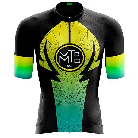 Camisa Ciclismo Masculina Smart MTB Zíper Parcial