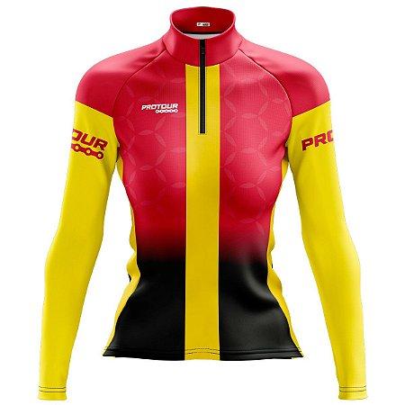Camisa Ciclismo Mountain Bike Feminina Escuderia Manga Longa