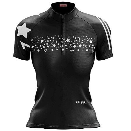 Camisa Ciclismo Mountain Bike Feminina Estrelas