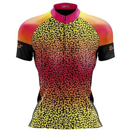Camisa Ciclismo Mountain Bike Feminina Onça MOD 232