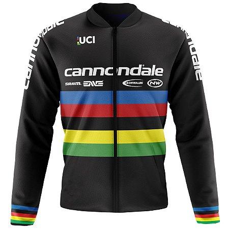 Jaqueta Térmica Ciclismo Mountain Bike Cannondale UCI preta