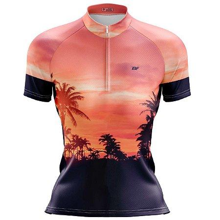 Camisa Ciclismo Mountain Bike Feminina Coqueiros