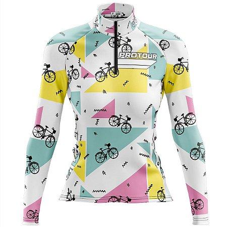 Camisa Ciclismo MTB Feminina Pro Tour Triângulos MODELO 84