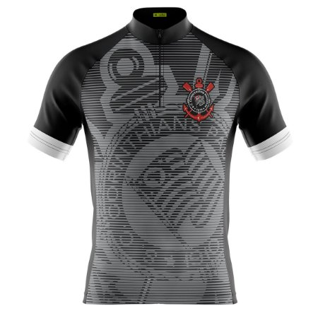 Camisa Masculina Manga Curta Corinthians Brasão