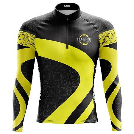 Camisa Ciclismo Mountain Bike Manga Longa Pro Tour Race