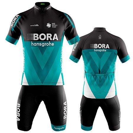Conjunto Ciclismo Bermuda e Camisa Bora Hansgrohe Mountain Bike
