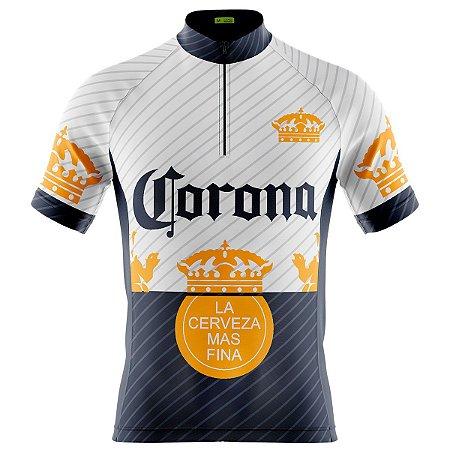 Camisa Ciclismo Masculina Mountain bike Manga Curta Cerveja dry fit proteção uv + 50