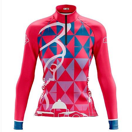 Camisa Ciclismo Feminina Pro Tour Nossa Senhora Manga Longa