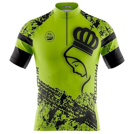 Camisa Ciclismo Masculina Mountain Bike Pro Tour Romaria Verde