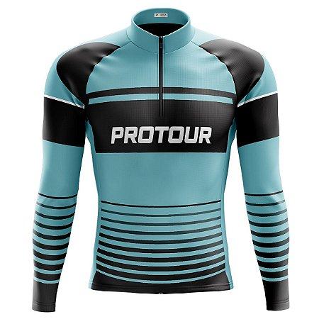 Camisa Ciclista Manga Longa Masculina Pro Tour Stellar dry fit proteção uv+50
