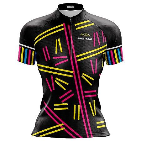 Camisa Ciclismo Mountain Bike Feminina Pro Tour Granulado