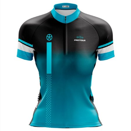 Camisa Ciclismo Mountain Bike Feminina Pro Tour Coroa Degradê