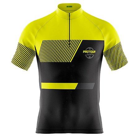 Camisa Ciclismo Masculina Mountain bike Pro Tour Yellow