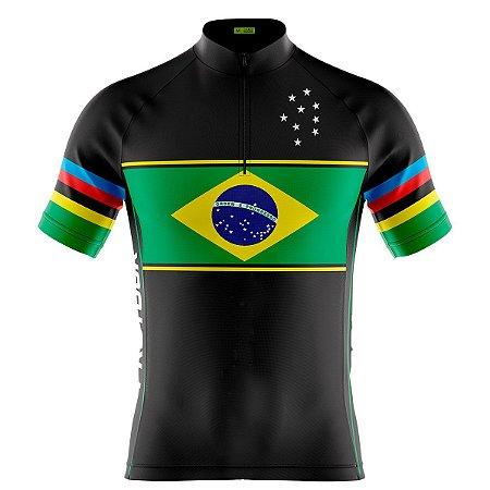 Camisa Ciclismo Masculina Mountain Bike Pro Tour Brasil