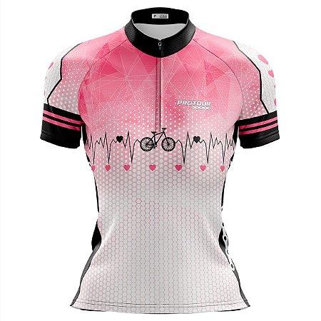 Camisa Ciclismo MTB Feminina Pro Tour Bike Coração 3.0