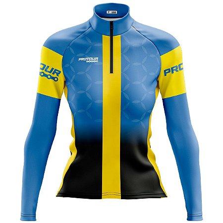 Camisa de Ciclismo Feminina Mountain Bike Escuderia Azul 85