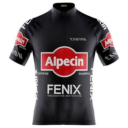 Camisa Ciclismo Masculina Mountain Bike Alpecin Fenix Dry fit proteção uv+