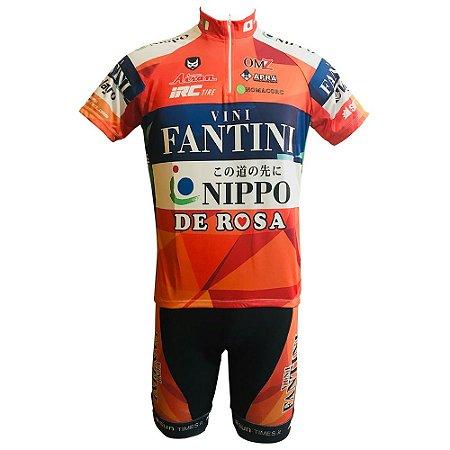 Conjunto Ciclismo MTB Bermuda e Camisa Vini Fantini