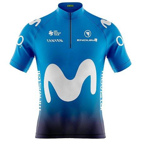 Camisa Ciclismo Mountain Bike Movistar