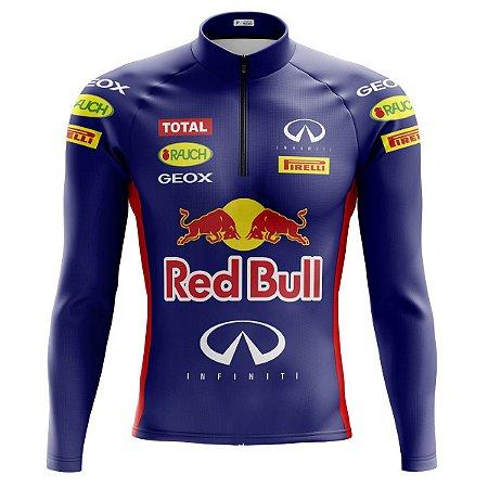 Camisa Ciclismo Mountain Bike Red Bull Manga Longa