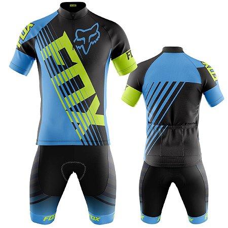 Conjunto Ciclismo Mountain Bike Bermuda e camisa Fox Racing