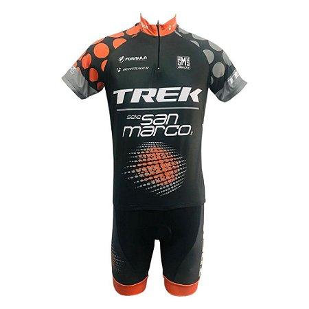 Conjunto Ciclismo Mountain Bike Bermuda e Camisa Trek San Marco