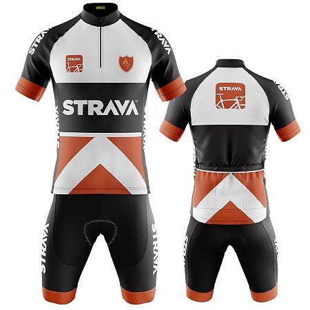Conjunto Ciclismo Mountain Bike Bermuda e Camisa Strava