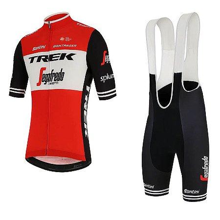 Conjunto Ciclismo Bretelle e Camisa Trek Segadrefo Forro em Gel