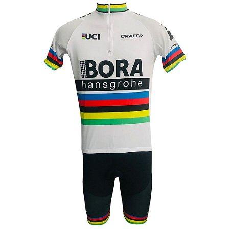 Conjunto Ciclismo Mountain Bike Bermuda e Camisa Bora Peter Sagan