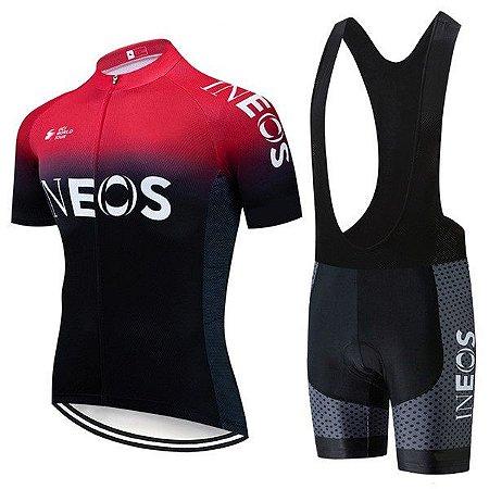 Conjunto Ciclismo Bretelle e Camisa Team Ineos 2019