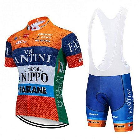 Conjunto Ciclismo Bretelle e Camisa Vini Fantini 2019