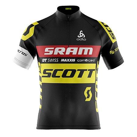 Camisa Ciclismo Mountain Bike Scott Sram