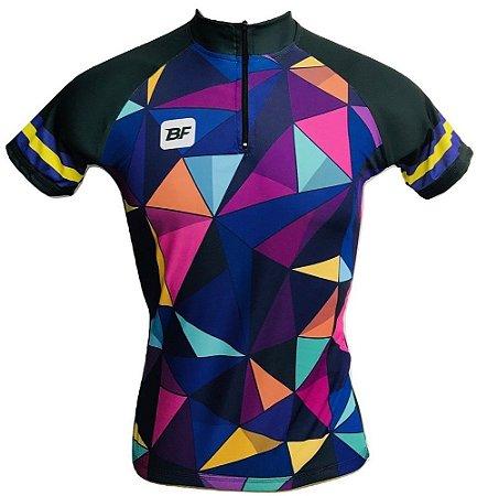 Camisa Ciclismo MTB Feminina Abstrata