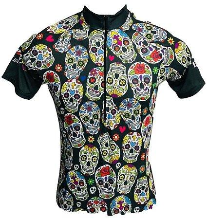 Camisa Ciclismo MTB Feminina Caveirinhas Mexicana