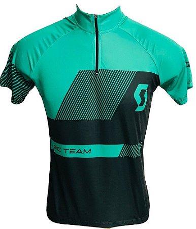 Camisa Ciclismo MTB Feminina Scott Verde Escuro