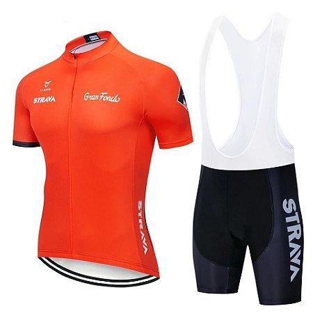 Conjunto Ciclismo Bretelle e Camisa Strava 2019