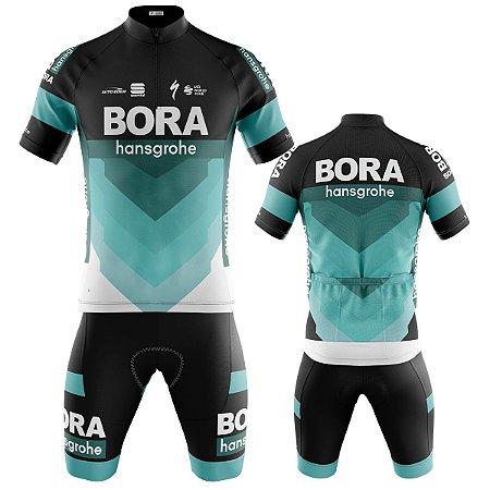 Conjunto Ciclismo Mountian Bike Bermuda e Camisa Bora