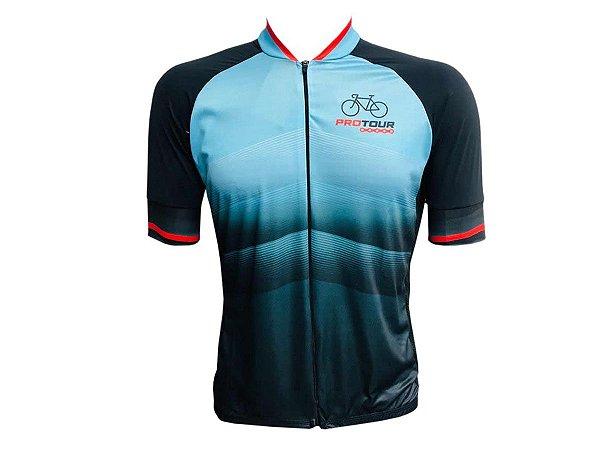Camisa Ciclismo Mountain Bike Smart Pro Tour Dark Zíper Abertura Total