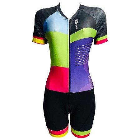 Macaquinho Ciclismo Feminino PRO TOUR Smart Forro em GEL