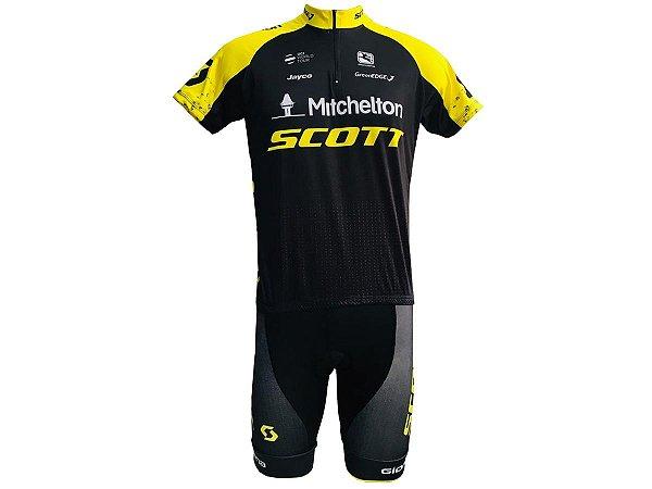 Conjunto Ciclismo MTB Bermuda e Camisa Scott Mitchelton