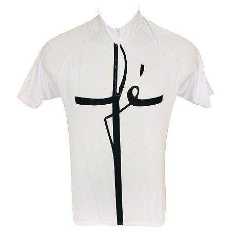Camisa Ciclismo Mountian Bike Fé Branca