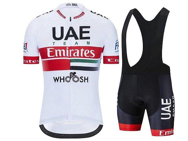 Conjunto Ciclismo Moutain Bike Bretelle e Camisa UAE