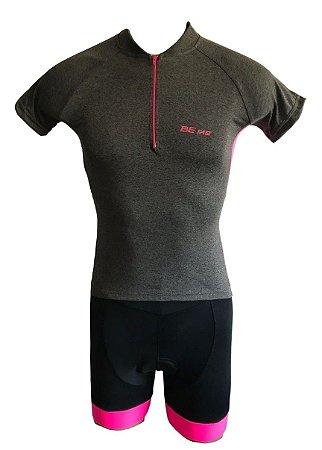 Conjunto Ciclismo Feminino Bermuda e camisa Clean