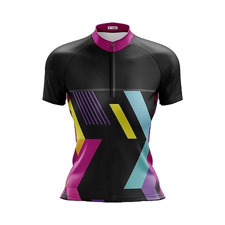 Camisa Ciclismo Mountain Bike Feminina Abstrata