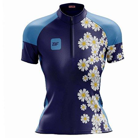 Camisa Ciclismo Mountain Bike Feminina Girassol