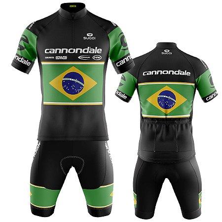 Conjunto Ciclismo Mountain Bike Bermuda e Camisa Cannondale Brasil