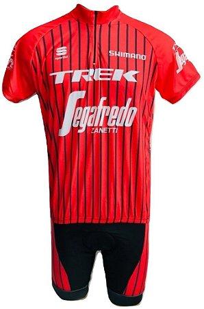 Conjunto Ciclismo MTB  Bermuda e Camisa Trek Segafredo