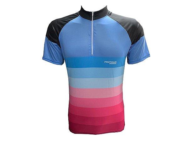 Camisa Ciclismo Mounatin Bike Pro Tour Degrade