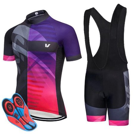 Conjunto Ciclismo Feminino Bretelle e Camisa Liv