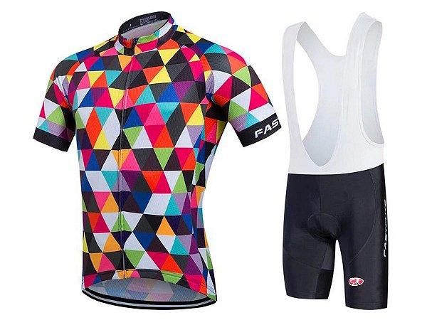 Conjunto Ciclismo Bretelle e Camisa Gelatina